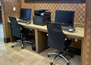 Our business center is open 24/7 and features, scanning, printing, and faxing capabilities. Also, use your own laptop at our convenient charging station.