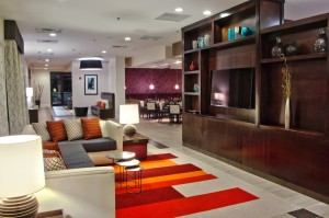Relax or get some work done in our warm, inviting lobby